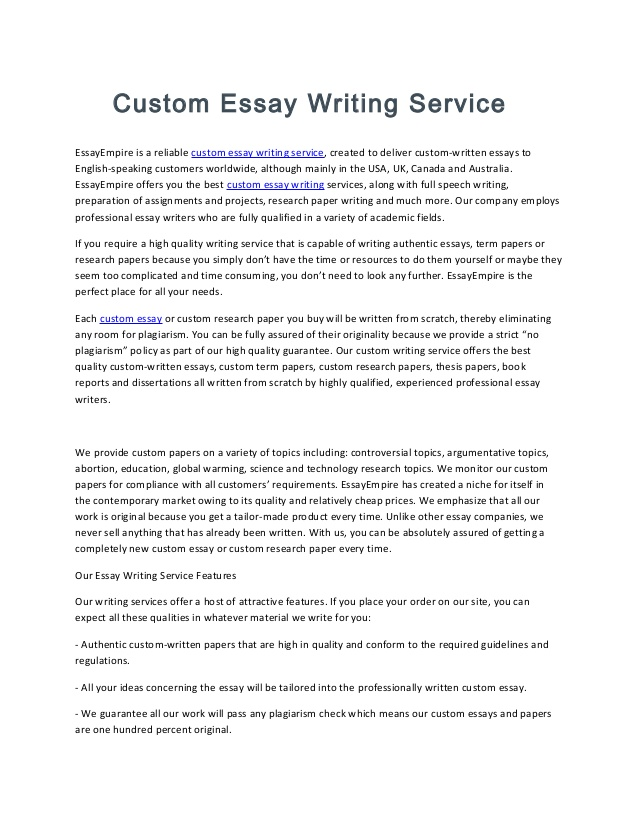 Experienced paper writers for hire